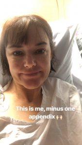 Serena Ryan in Hospital February 2018