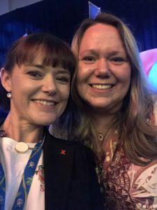 Serena Ryan and Tabitha Philan at Social Media Marketing World 2018